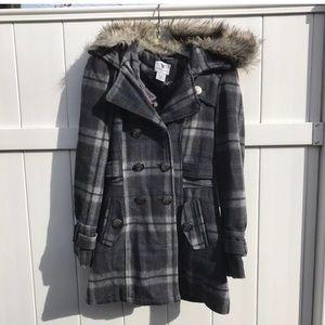 Worthington PeaCoat Wool Blend Coat Jacket Small.